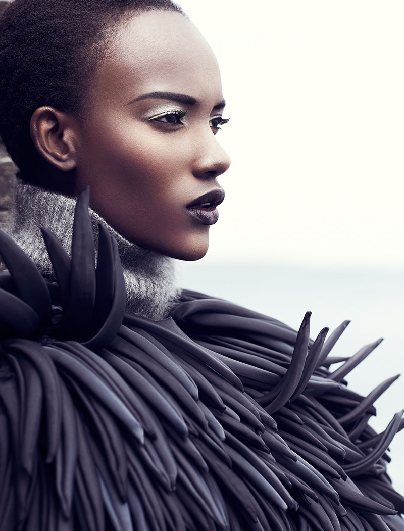 herieth paul gets grey for fashion september 2013 by chris
