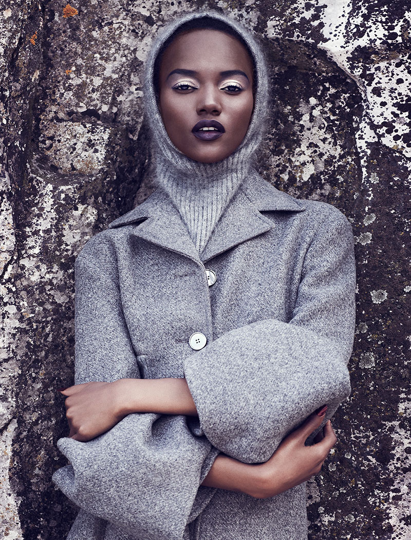 chris nicholls 20251 Herieth Paul Gets Grey for Fashion September 2013 by Chris Nicholls