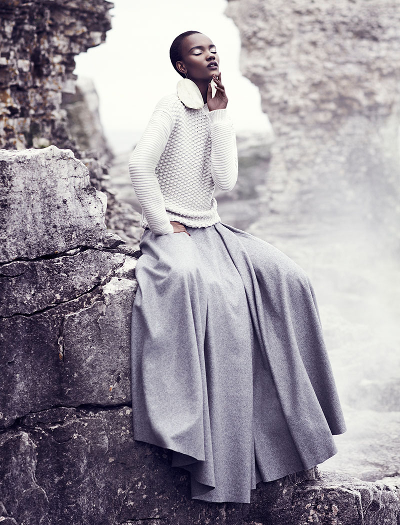 chris nicholls 2028 Herieth Paul Gets Grey for Fashion September 2013 by Chris Nicholls
