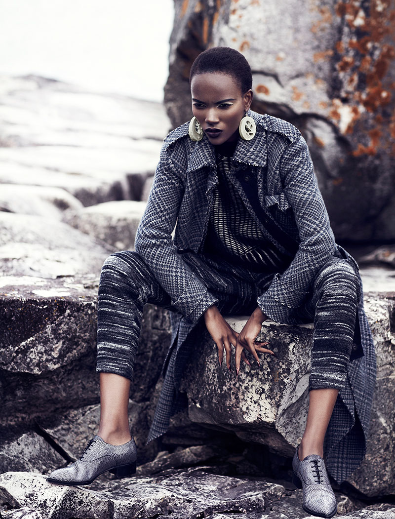 Herieth Paul Gets Grey for Fashion September 2013 by Chris Nicholls
