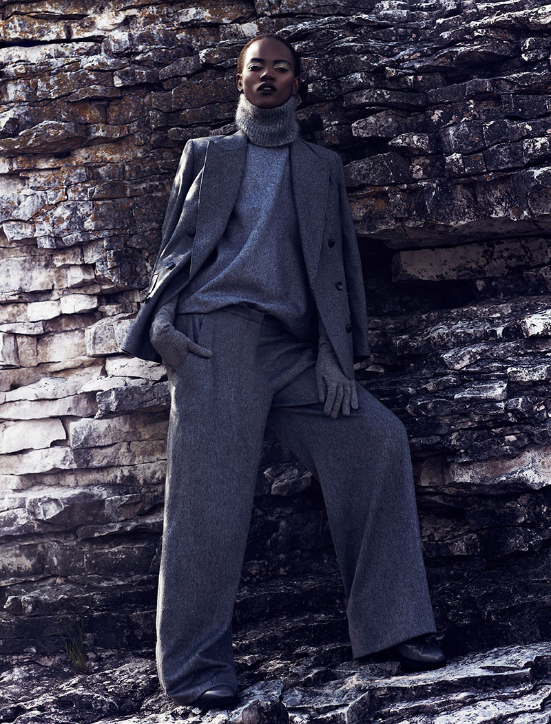 chris nicholls 2030 Herieth Paul Gets Grey for Fashion September 2013 by Chris Nicholls