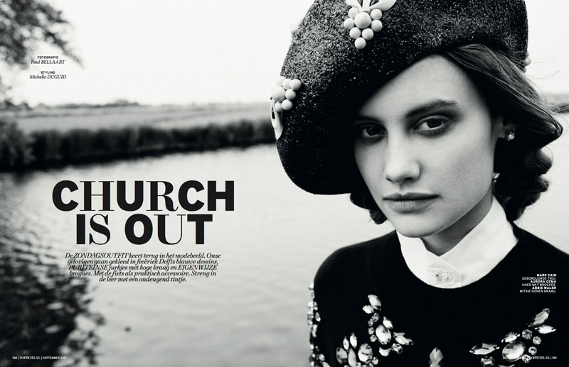 church style1 Queeny van der Zande Heads to the Country for LOfficiel Netherlands
