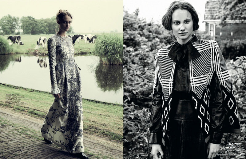 church style3 Queeny van der Zande Heads to the Country for LOfficiel Netherlands