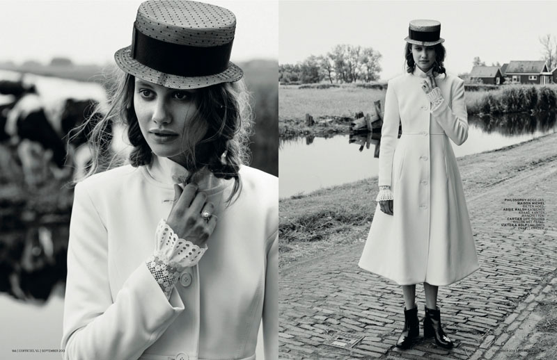 church style5 Queeny van der Zande Heads to the Country for LOfficiel Netherlands