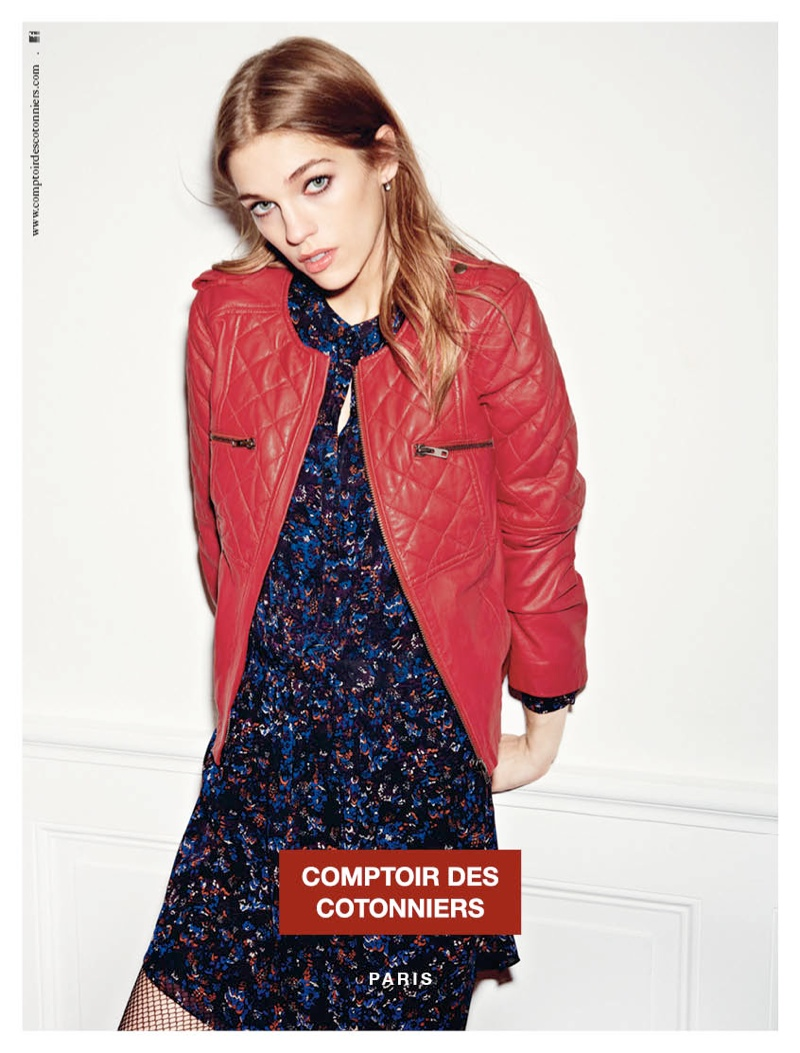 comptoir fall ads1 Samantha Gradoville is Parisian Chic for Comptoir des Cotonniers Fall 2013 Ads