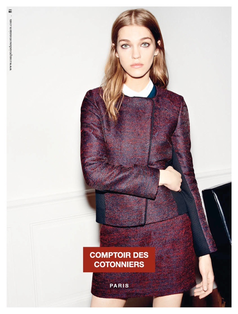 Samantha Gradoville is Parisian Chic for Comptoir des Cotonniers' Fall 2013 Ads