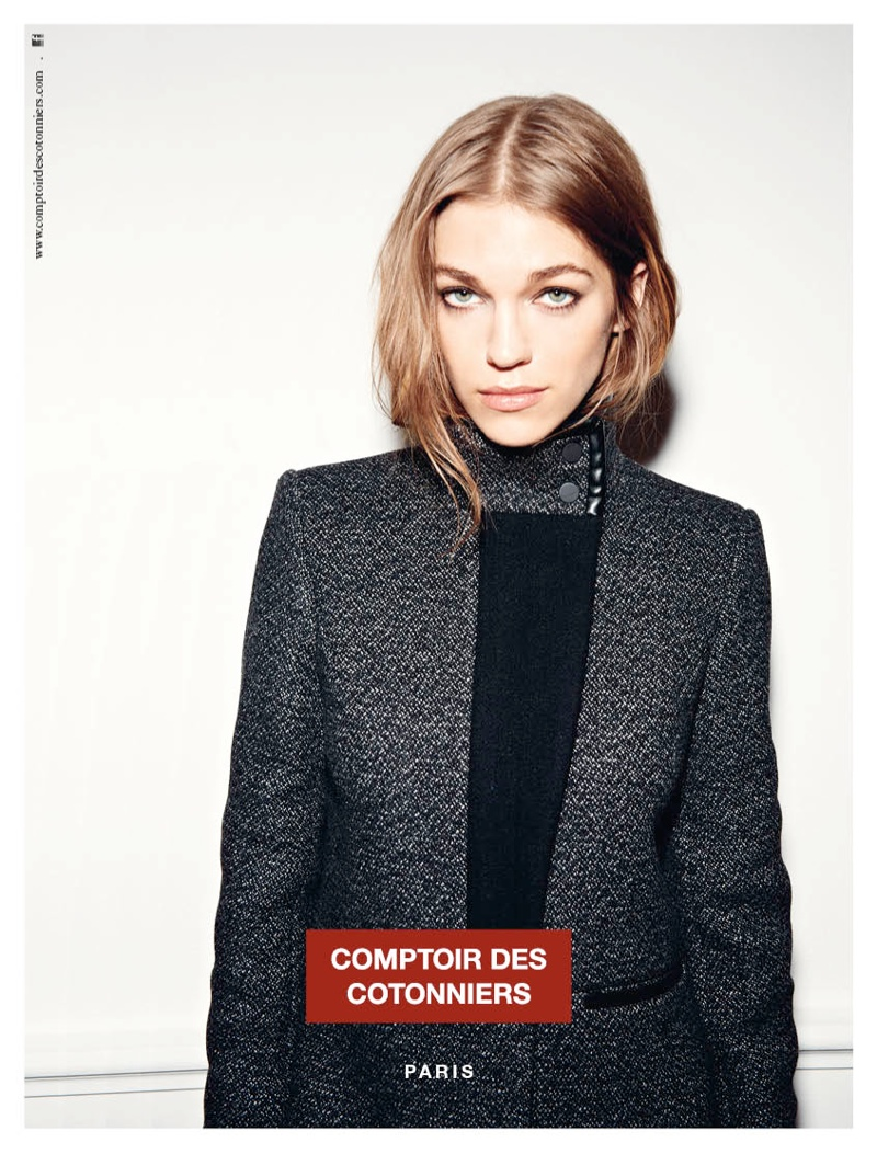 comptoir fall ads3 Samantha Gradoville is Parisian Chic for Comptoir des Cotonniers Fall 2013 Ads