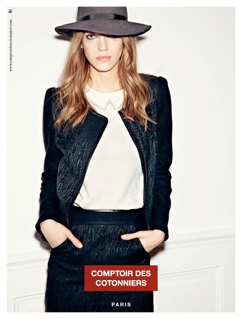 comptoir fall ads4 Samantha Gradoville is Parisian Chic for Comptoir des Cotonniers Fall 2013 Ads