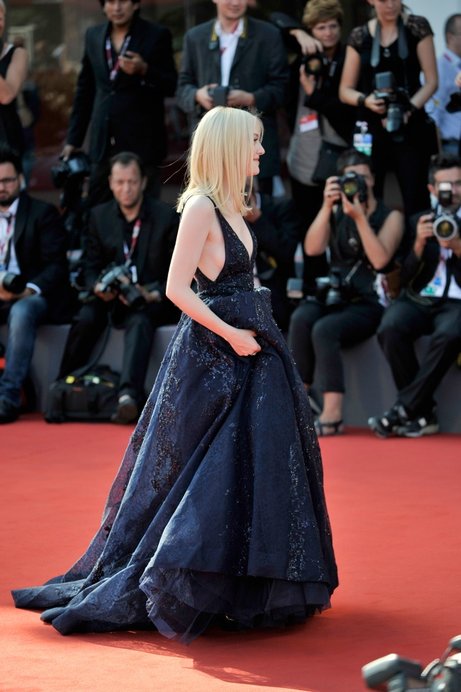 dakota armani prive3 Dakota Fanning Wears Elie Saab to the 70th Annual Venice Film Festival