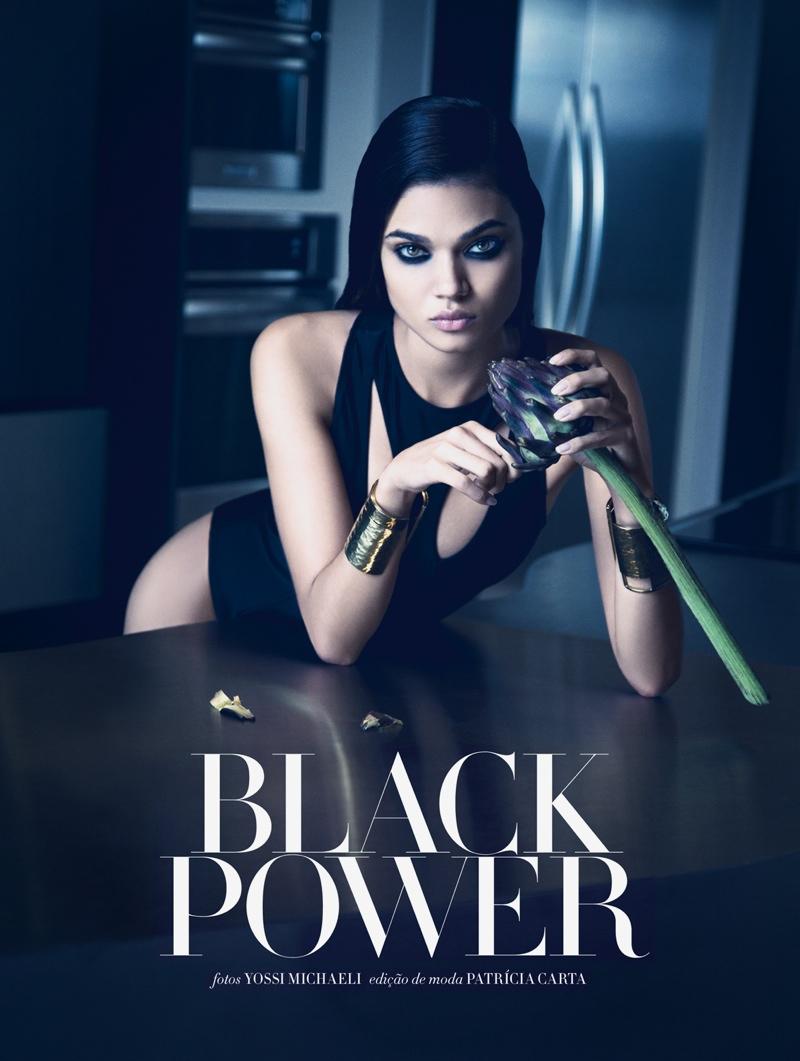daniela braga1 Daniela Braga Models Dark Style for Harpers Bazaar Brazil by Yossi Michaeli