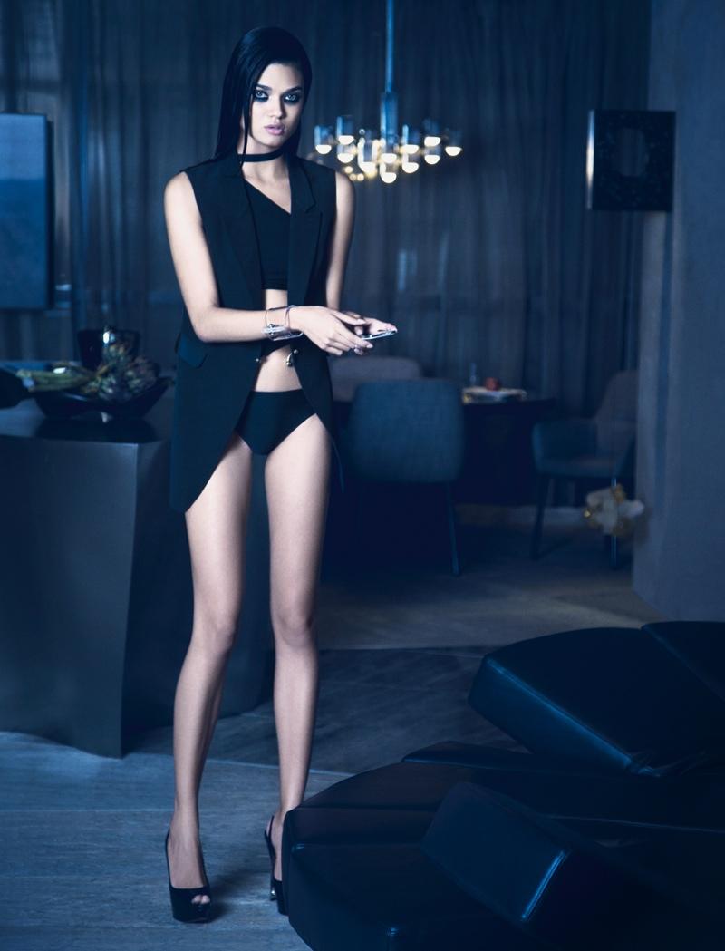 daniela braga4 Daniela Braga Models Dark Style for Harpers Bazaar Brazil by Yossi Michaeli