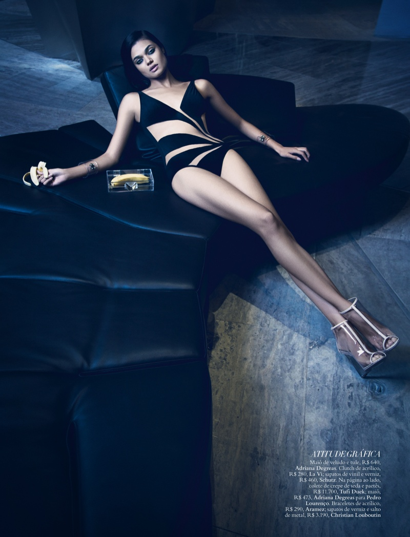 daniela braga5 Daniela Braga Models Dark Style for Harpers Bazaar Brazil by Yossi Michaeli