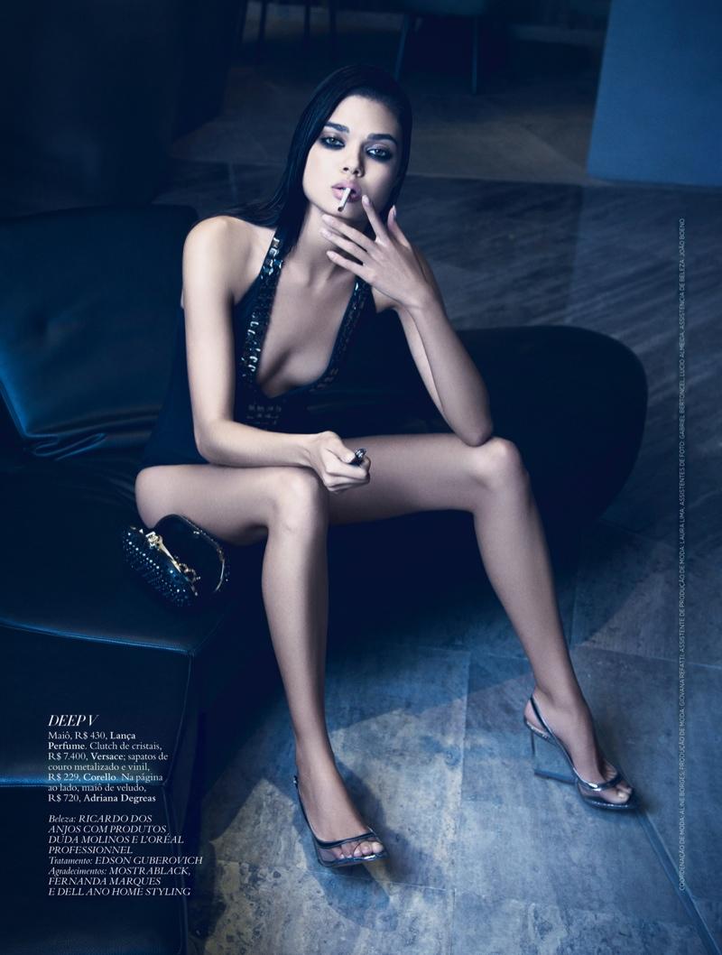 daniela braga6 Daniela Braga Models Dark Style for Harpers Bazaar Brazil by Yossi Michaeli