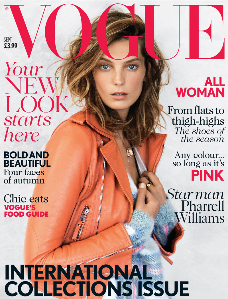Daria Werbowy Rocks a Nose Ring for Vogue UK's September 2013 Cover