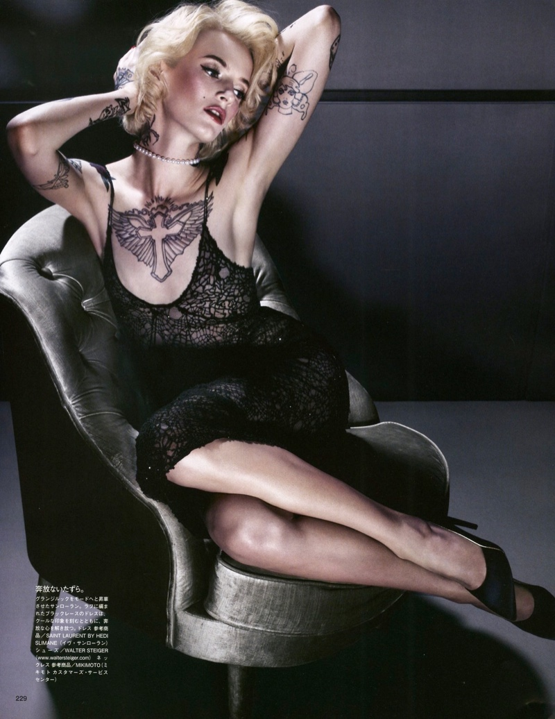 daria solve sundsbo shoot10 Daria Strokous is Tattoo Glam for Vogue Japan Shoot by Sølve Sundsbø