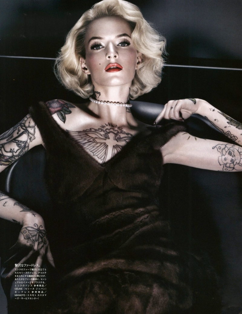 daria solve sundsbo shoot4 Daria Strokous is Tattoo Glam for Vogue Japan Shoot by Sølve Sundsbø