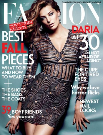 Daria Werbowy Shines on Fashion Canada's October 2013 Cover