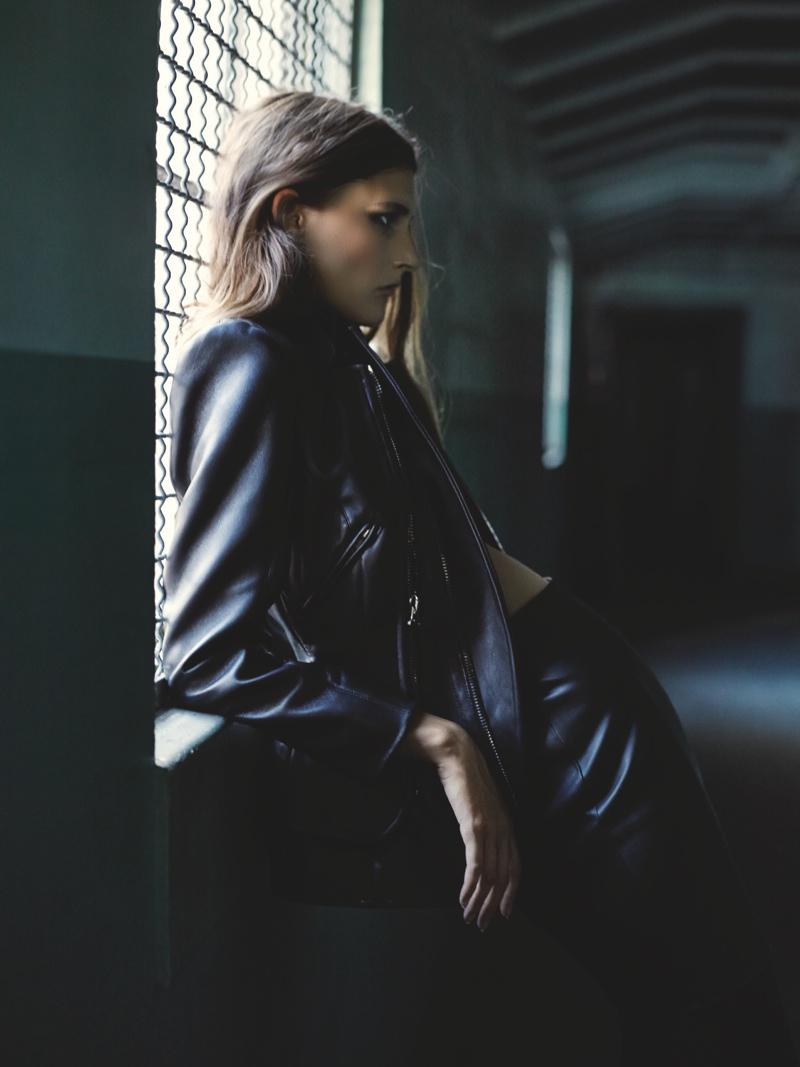 "Marie Piovesan Models ""Dark Romance"" for Forward by Elyse Walker Shoot"