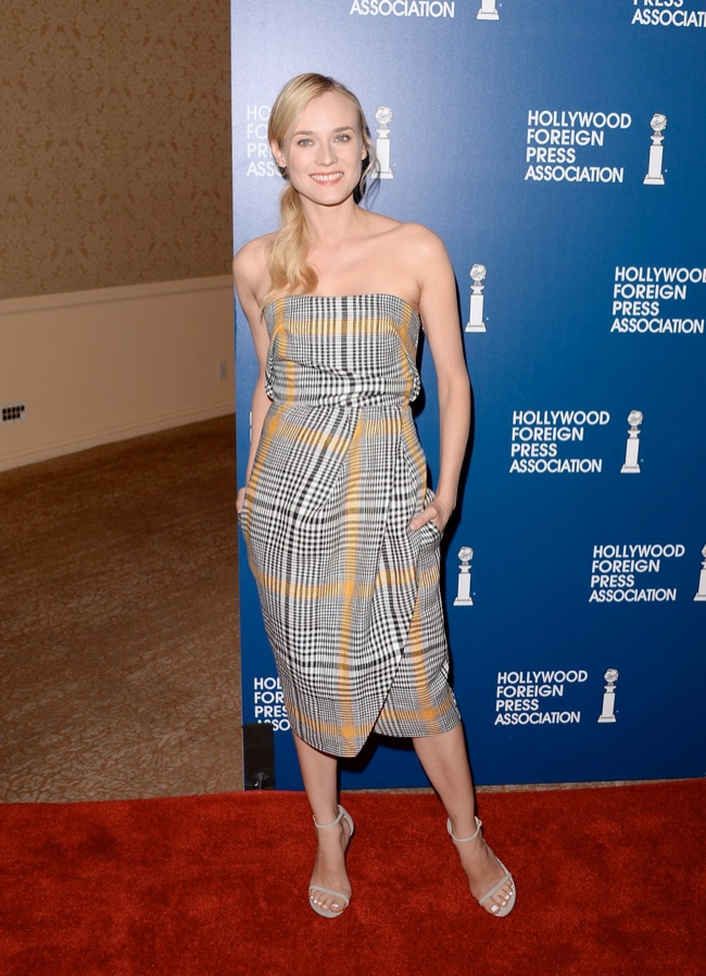 diane kruger carven1 Diane Kruger Wears Carven to the Hollywood Foreign Press Associations 2013 Installation Luncheon
