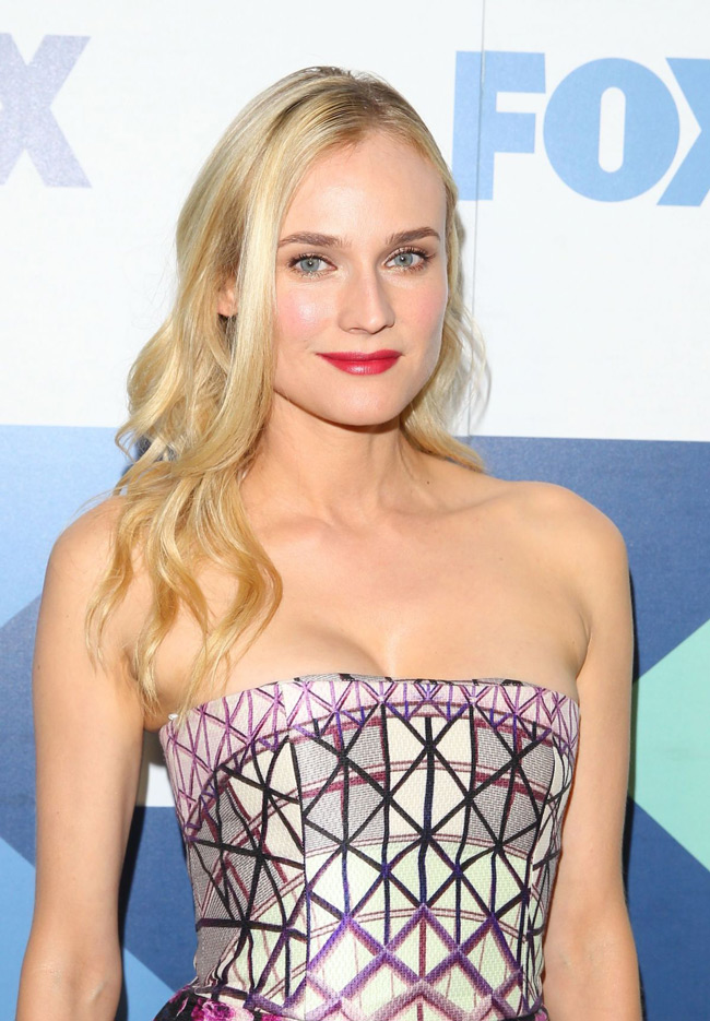 diane kruger mary dress3 Diane Kruger Wears Mary Katrantzou at the FOX Summer TCA All star Party