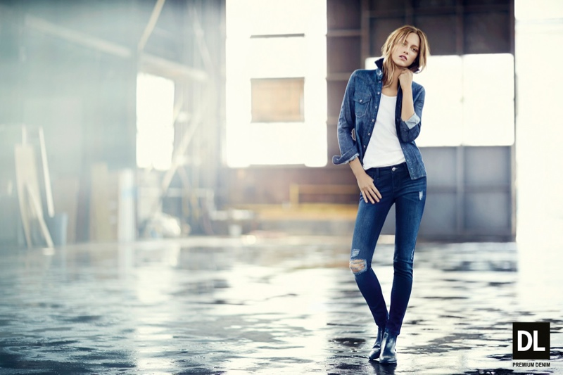 dl fw ads1 Karmen Pedaru Models Denim Styles for DL1961 Fall 2013 Campaign