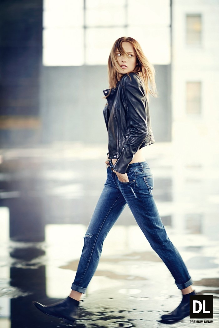 dl fw ads3 Karmen Pedaru Models Denim Styles for DL1961 Fall 2013 Campaign