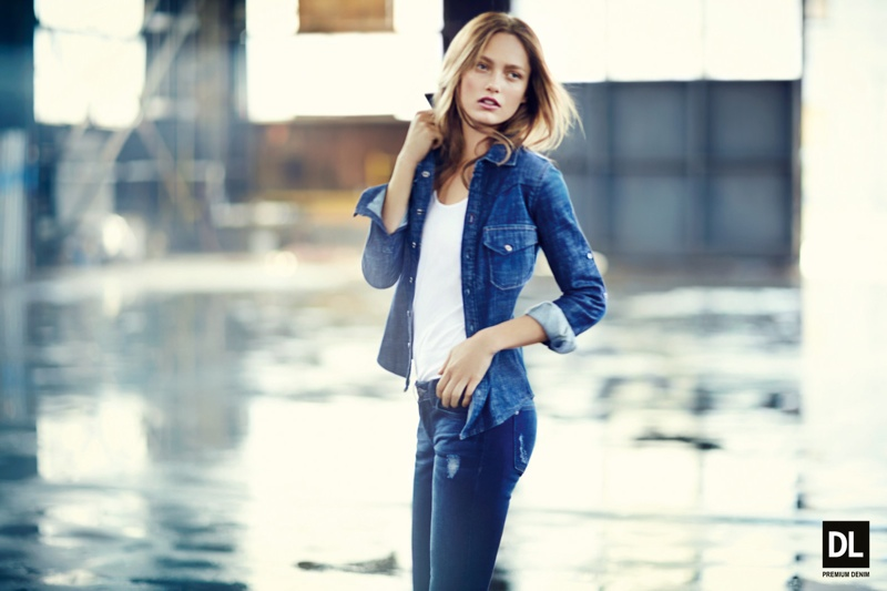 dl fw ads4 Karmen Pedaru Models Denim Styles for DL1961 Fall 2013 Campaign