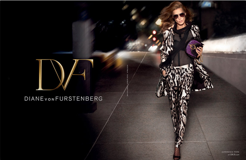 dvf fall ads1 Diane von Furstenberg Taps Daria Werbowy for Fall 2013 Ads
