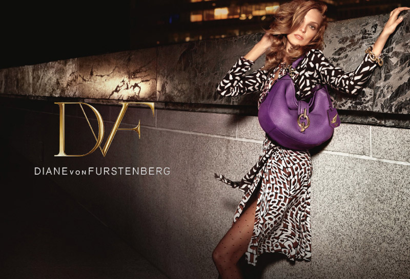 dvf fall ads2 Diane von Furstenberg Taps Daria Werbowy for Fall 2013 Ads