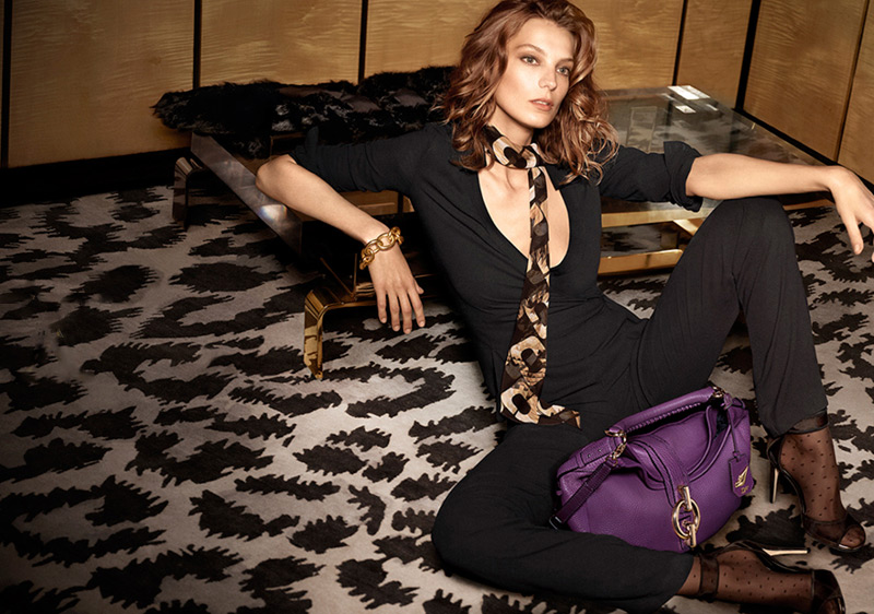 dvf fall ads6 Diane von Furstenberg Taps Daria Werbowy for Fall 2013 Ads