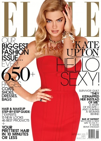 Kate Upton is Red Hot on Elle US' September 2013 Cover