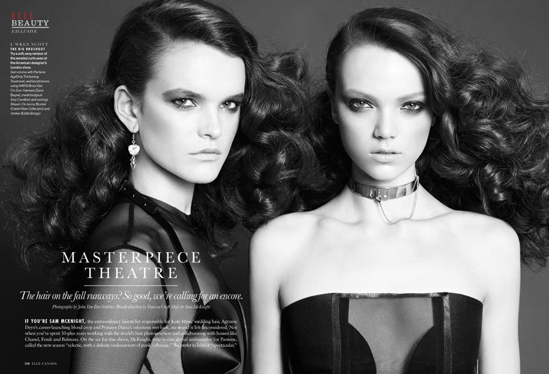 elle luxe punk1 Sam McKnight Creates Luxe Hair for Elle Canada Beauty Shoot