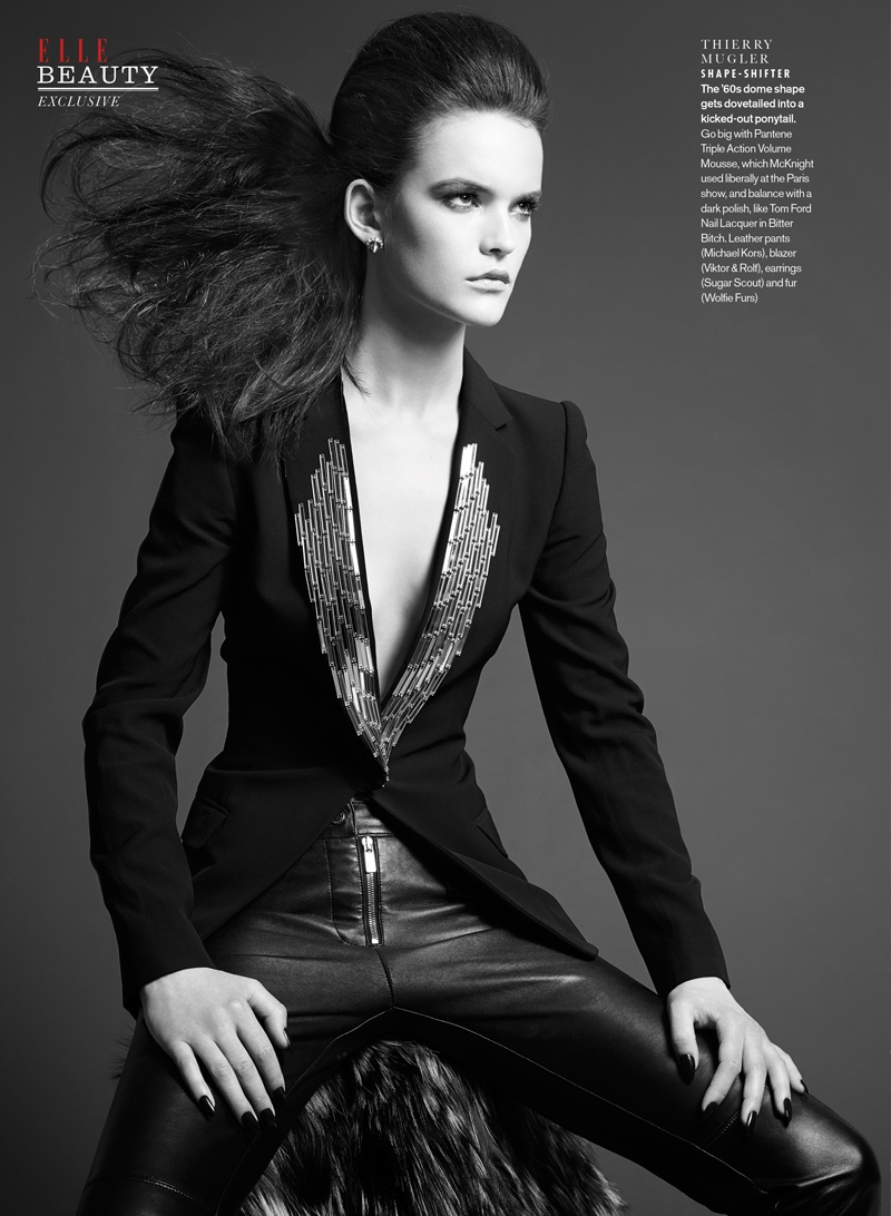 elle luxe punk2 Sam McKnight Creates Luxe Hair for Elle Canada Beauty Shoot