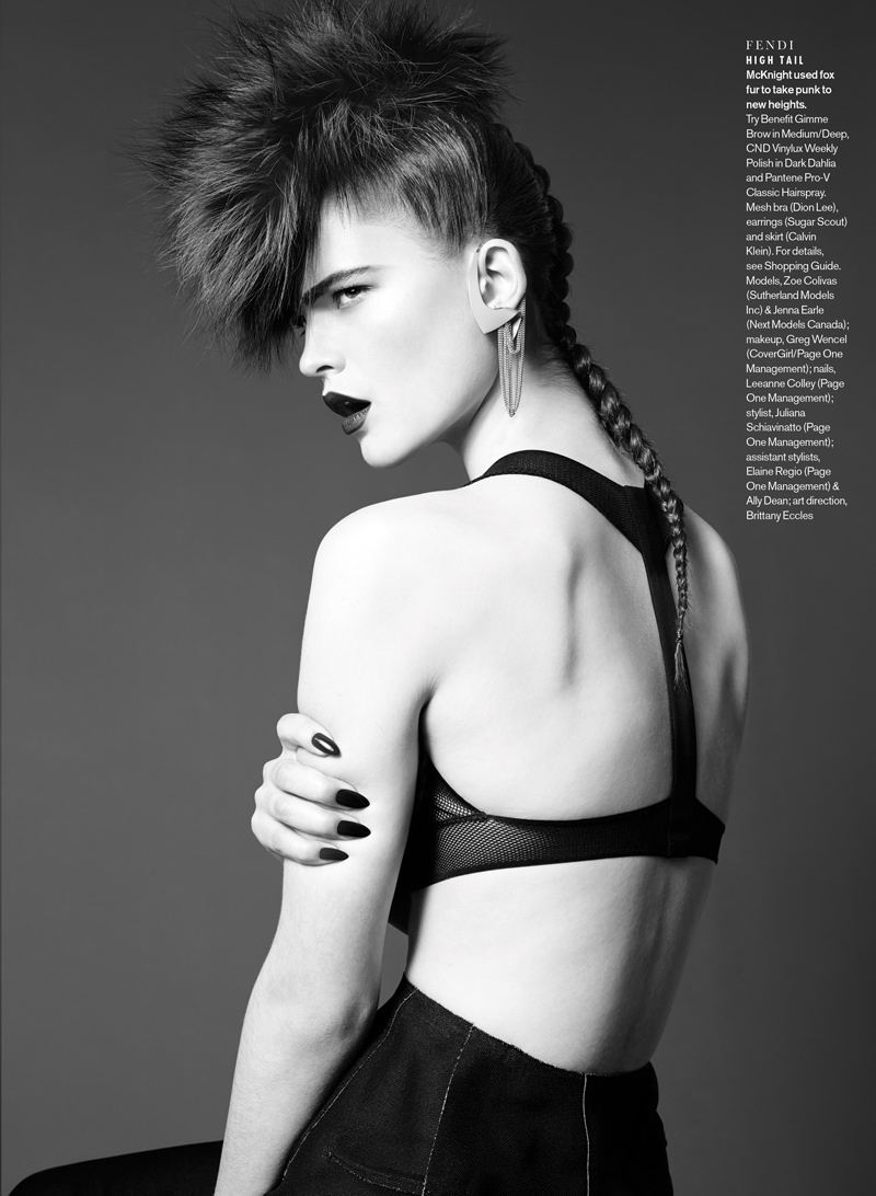elle luxe punk5 Sam McKnight Creates Luxe Hair for Elle Canada Beauty Shoot