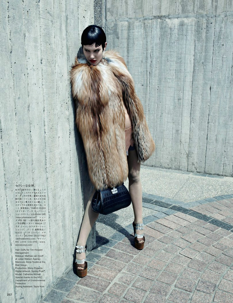 emma summerton4 Catherine McNeil Gets Luxe for Vogue Japan Shoot by Emma Summerton