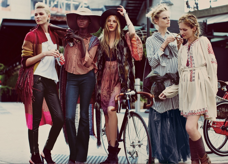 free people sept10 Karlie Kloss, Crystal Renn & More Star in Free Peoples September Catalogue