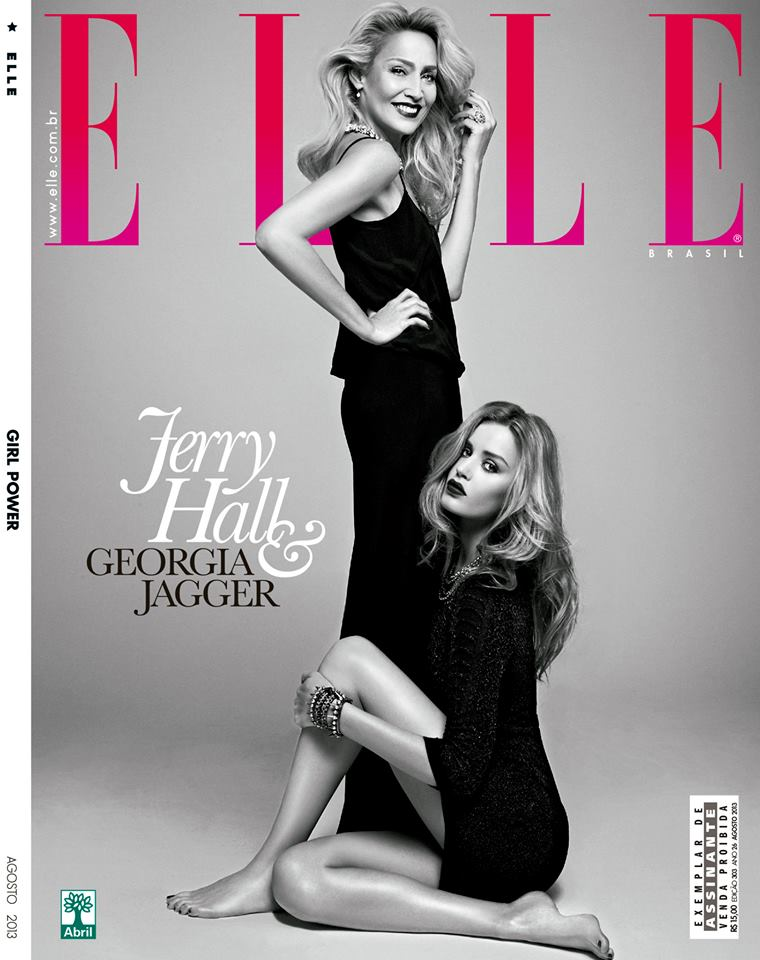 georgia jerry cover Georgia May Jagger and Jerry Hall Pose for Elle Brazil by Max Abadian