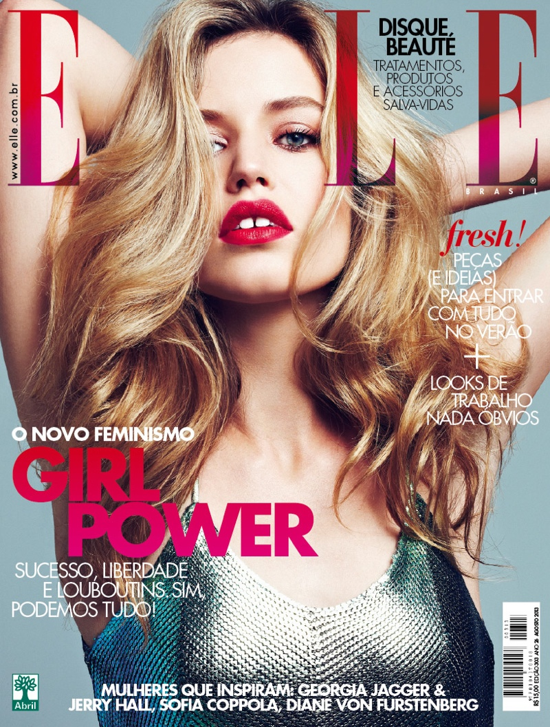 georgia may jerry hall7 Georgia May Jagger and Jerry Hall Pose for Elle Brazil by Max Abadian