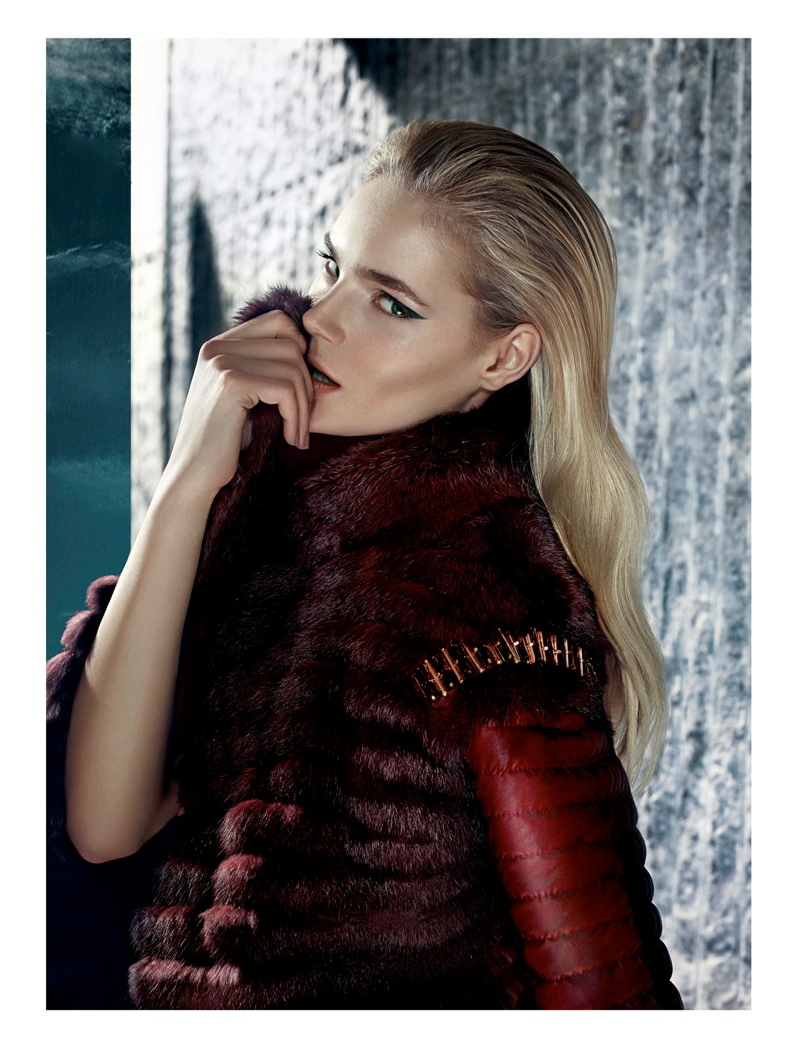 gizia fw camapign4 Juju Ivanyuk Models Sleek Style for Gizia Fall 2013 Ads by Nihat Odabasi
