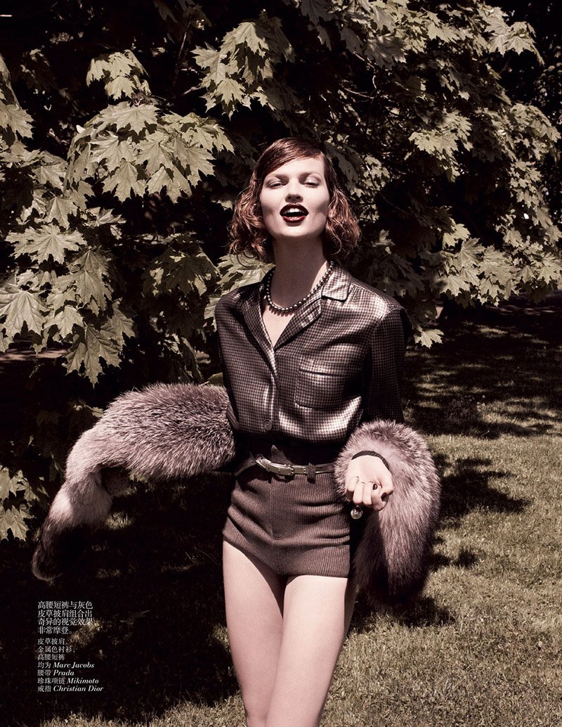 grey daniel jackson3 Bette Franke is Ladylike in Vogue China Shoot by Daniel Jackson