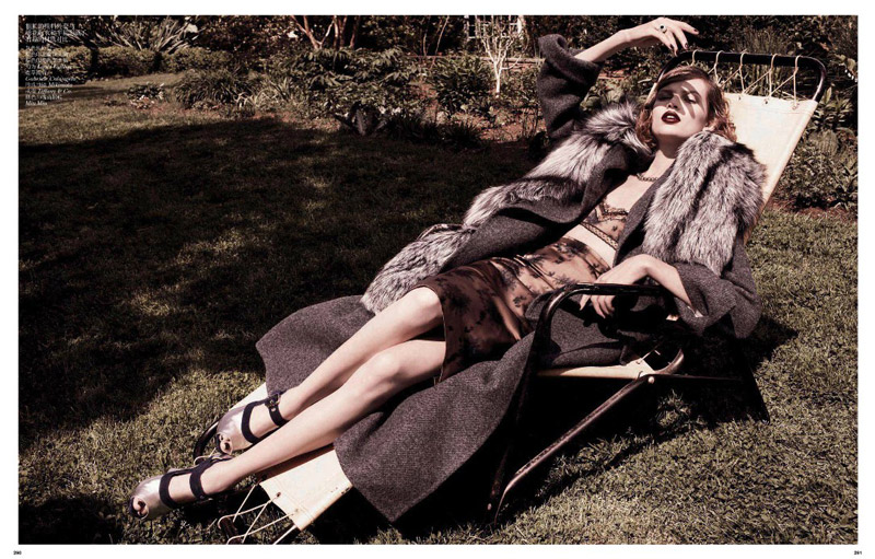 grey daniel jackson4 Bette Franke is Ladylike in Vogue China Shoot by Daniel Jackson