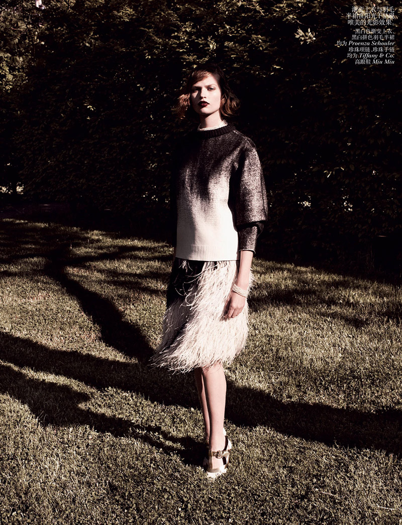 grey daniel jackson6 Bette Franke is Ladylike in Vogue China Shoot by Daniel Jackson