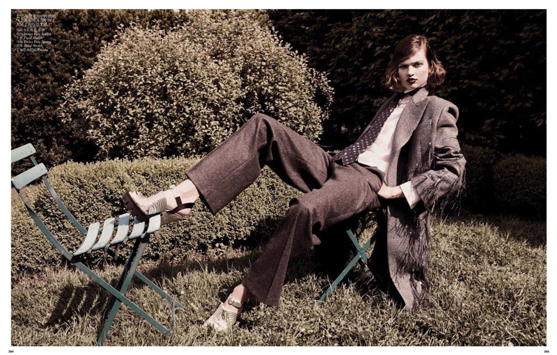 grey daniel jackson7 Bette Franke is Ladylike in Vogue China Shoot by Daniel Jackson