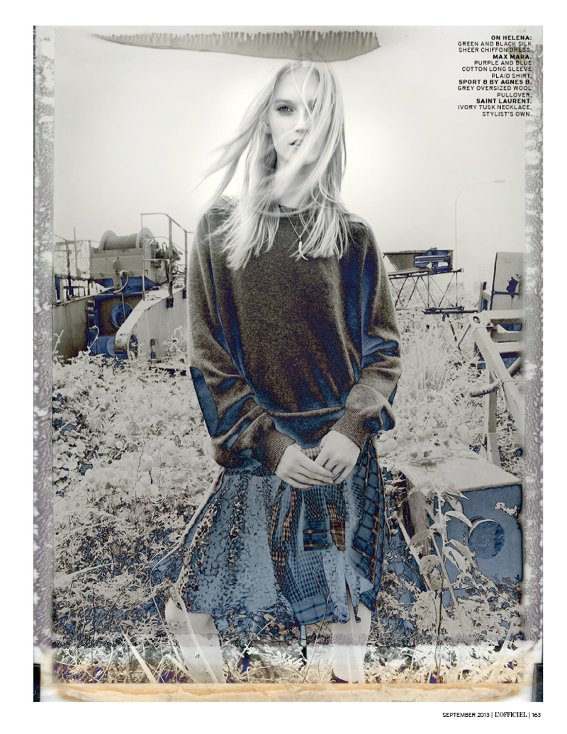 grunge shoot1 Helena Greyhorse Stars in LOfficiel Singapores Grungy September Shoot