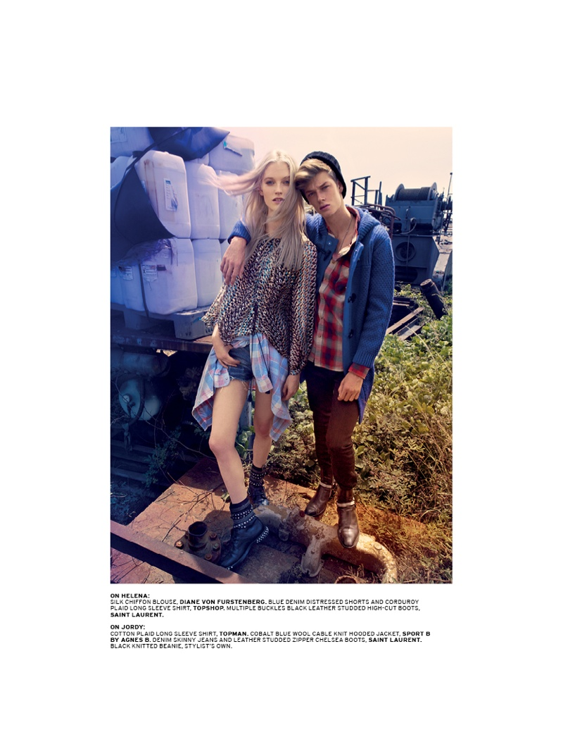 grunge shoot2 Helena Greyhorse Stars in LOfficiel Singapores Grungy September Shoot