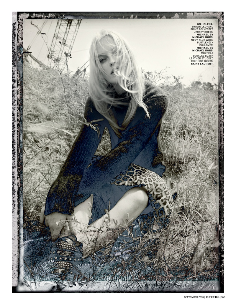 grunge shoot3 Helena Greyhorse Stars in LOfficiel Singapores Grungy September Shoot