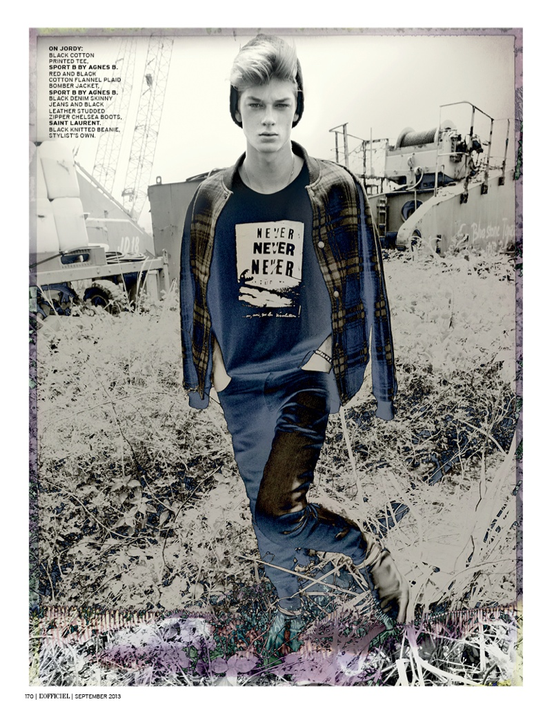 grunge shoot6 Helena Greyhorse Stars in LOfficiel Singapores Grungy September Shoot