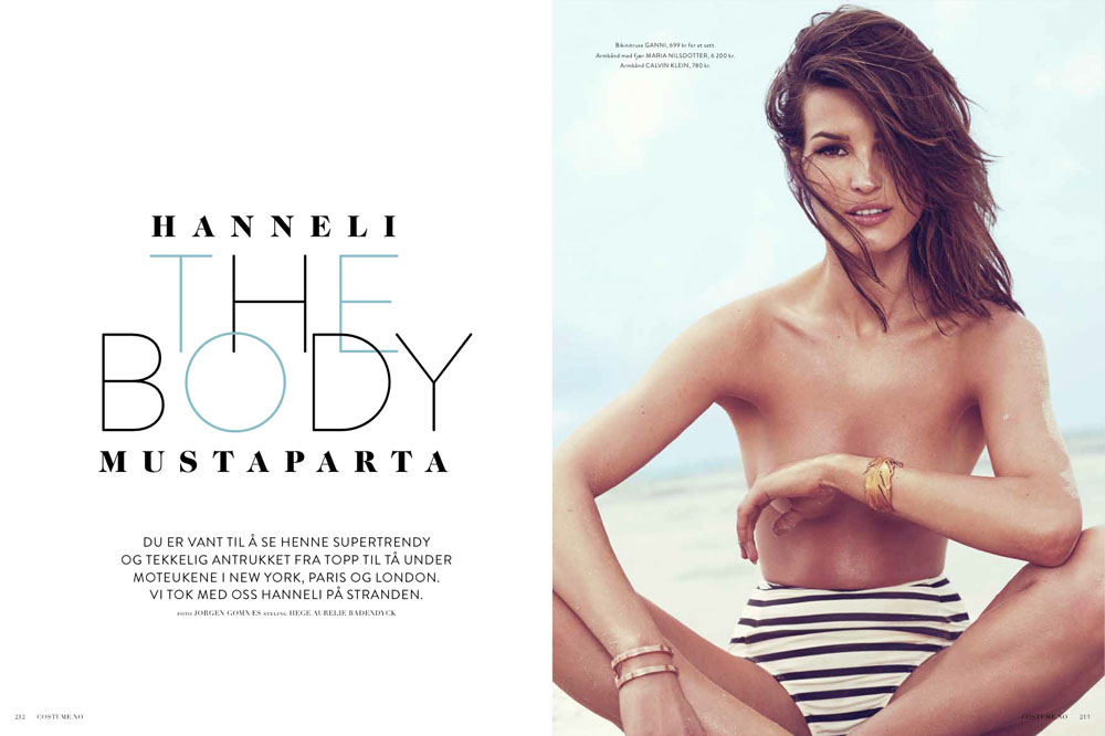 Hanneli Mustaparta Hits the Beach for Costume Norway September 2013