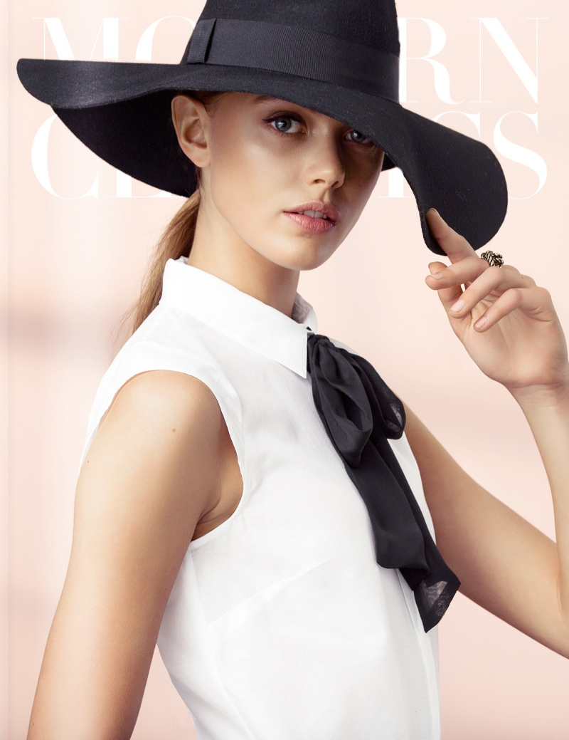 hm elegant1 Frida Gustavsson Models Effortless Elegance for H&M