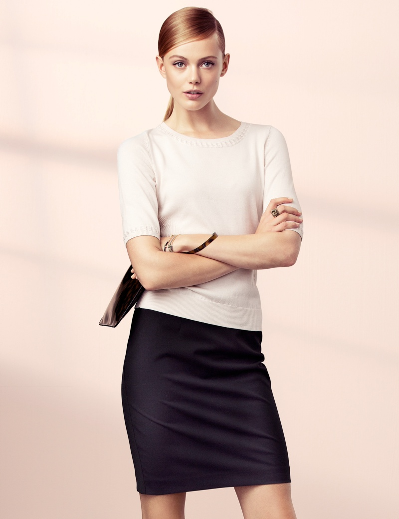 hm elegant3 Frida Gustavsson Models Effortless Elegance for H&M